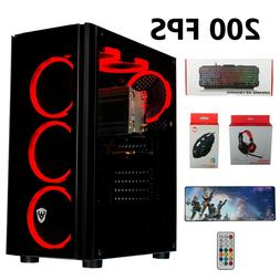 Gaming Pc Desktop Computer  RX 580, SSD+HDD, 24GB RAM, Strea