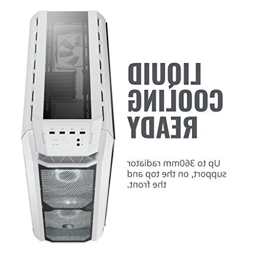 MasterCase H500P White ATX 2 200mm Fans, Glass Panel by
