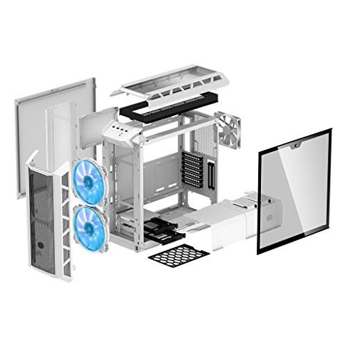 MasterCase H500P White ATX Mid-Tower w/ 2 RGB Fans, Panel by Cooler Master