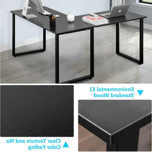 Office Home Desk L-Shaped Laptop Table Gaming