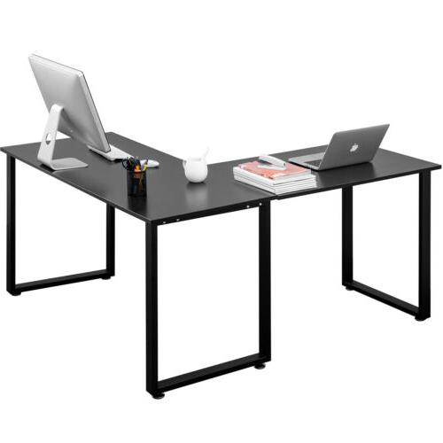 Office L-Shaped Computer PC Table Gaming Workstation