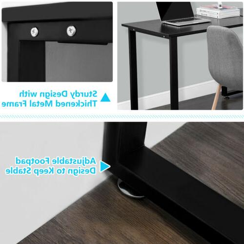 Office Home Desk L-Shaped PC Table Gaming