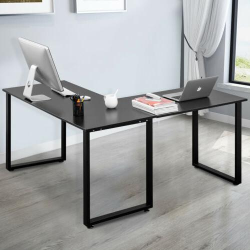 Office Corner L-Shaped Computer Table Gaming