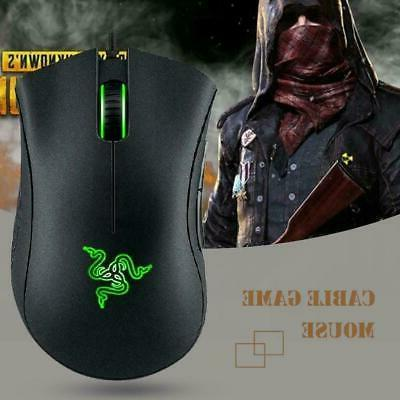 Razer Wired Gaming Mouse 6400DPI Optical Sensor 5 Buttons Fo