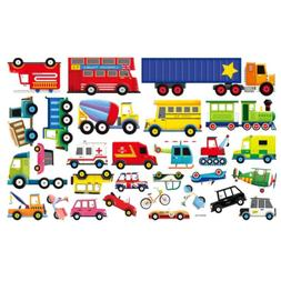 Transports Kids Wall Stickers Wall Decals Peel and Stick Rem